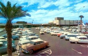 Park Central Shopping Center opened in 1957. Photographer unknown.